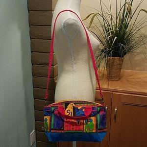 *Laurel Burch Canvas Crossbody Bag